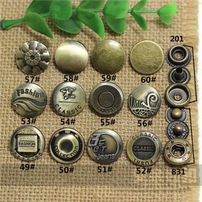 AY110201 201# Metal Snap Fastener/Decorative buckle/Leather buckle/Cowboy deduction/Purse buckle 17mm