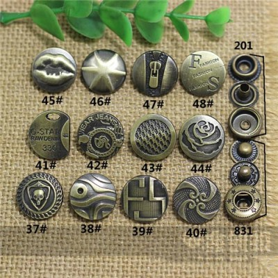 AY111201 201# Metal Snap Fastener/Decorative buckle/Leather buckle/Cowboy deduction/Purse buckle 17mm