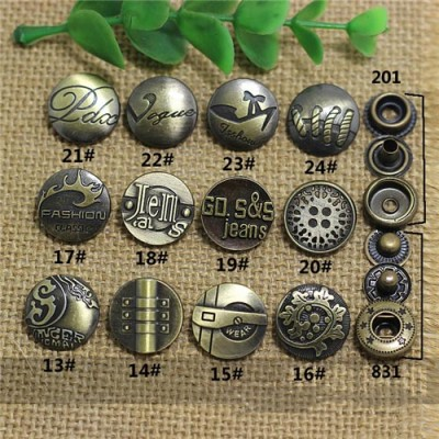 AY112201 201# Metal Snap Fastener/Decorative buckle/Leather buckle/Cowboy deduction/Purse buckle 17mm