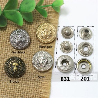 AY113201 201# Metal Snap Fastener/Decorative buckle/Leather buckle/Cowboy deduction/Purse buckle 17mm