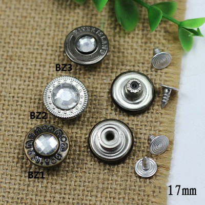BZ Jeans Button Shake head button 17mm