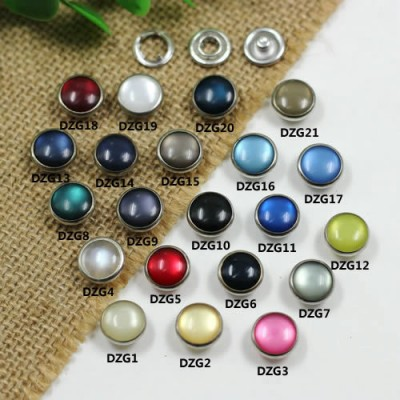 DZG Prong buckle Pearlized Snap Fastener 12mm