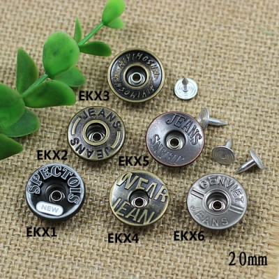 EKX Jeans Button Shake head button 20mm