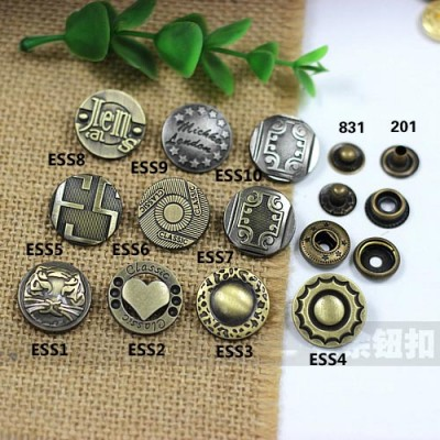 ESS831 831# Metal Snap Fastener/Decorative buckle/Leather buckle/Cowboy deduction/Purse buckle 20mm