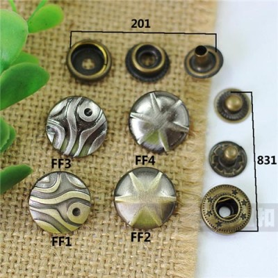 FF201 201# Metal Snap Fastener/Decorative buckle/Leather buckle/Cowboy deduction/Purse buckle