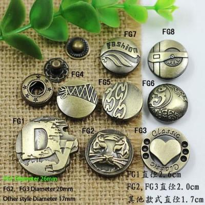 FG831 831# Metal Snap Fastener/Decorative buckle/Leather buckle/Cowboy deduction/Purse buckle