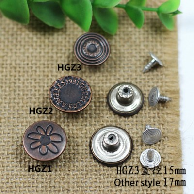 HGZ Jeans Button Shake head button
