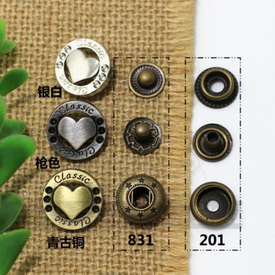 HS 831#/201# Metal Snap Fastener/Decorative buckle/Leather buckle/Cowboy deduction/Purse buckle