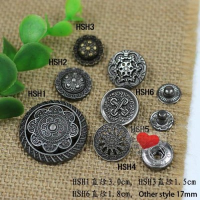 HSH Metal Snap Fastener/Decorative buckle/Leather buckle/Cowboy deduction/Purse buckle