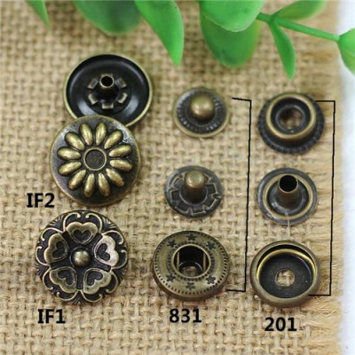 IF831201 831#/201# Metal Snap Fastener/Decorative buckle/Leather buckle/Cowboy deduction/Purse buckle