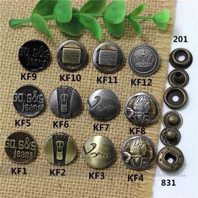 KF201 201# Metal Snap Fastener/Decorative buckle/Leather buckle/Cowboy deduction/Purse buckle 17mm
