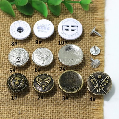 XXHJ Jeans Button Shake head button