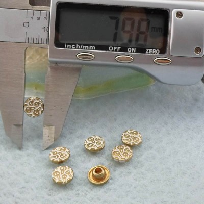 K243 Flowers Alloy Rivets 8x3.6mm  1000pcs/bag