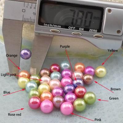 Q0008 Round/Pearl ABS Rivets 8mm  1000pcs/bag