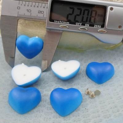 Q288 Heart Plastic Rivets 22x9mm 5000pcs/bag