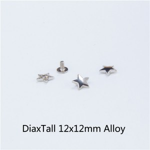 X1212 Pentagram Spikes 12x12mm  100pcs/bag