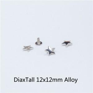 X1212 Pentagram Spikes 12x12mm  100pcs/bag