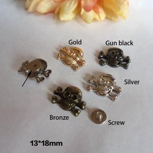 X1318 Skull Head Spikes 13x18mm  100pcs/bag