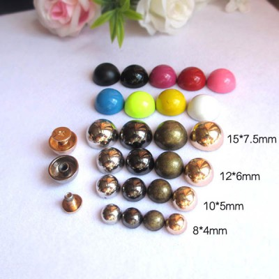 X84 Dome&Mushrooms Spikes For Leather 8x4mm  100pcs/bag