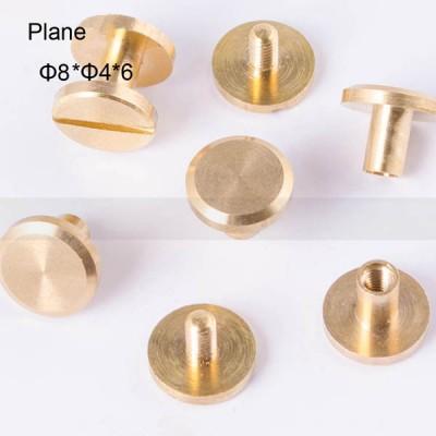 FR013 Conchos Chicago Screws-Binding Screws-Plane 8x4x6mm 500pcs/Bag