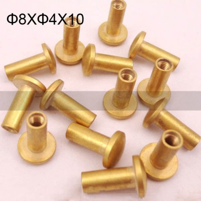 FR017 Leather Chicago Screws-Binding Screws-Cambered 8x4x10mm 100pcs/bag