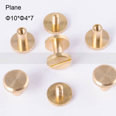 FR038 Chicago Screws-Binding Screws-Plane 10x4x7mm 100pcs/bag