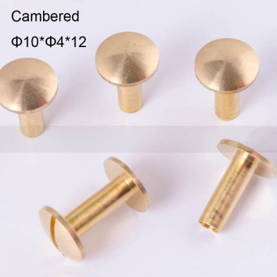 FR045 Chicago Screws-Binding Screws-Cambered 10x4x12mm 100pcs/bag