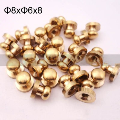 FR108 Monk Head Screws For Leather 8x6x8mm 100pcs/Bag