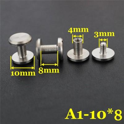 FR401 Stainless Steel Chicago Screws-Binding Screws-Plane 10x4x8mm 100pcs/bag