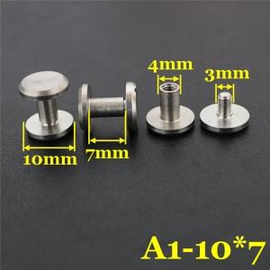 FR402 Stainless Steel Flat Head Screw Posts 10x4x7mm 100pcs/bag