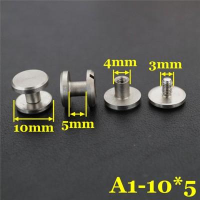 FR404 Stainless Steel Chicago Screws-Binding Screws-Plane 10x4x5mm 100pcs/bag