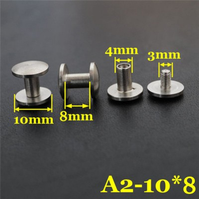 FR406 Stainless Steel Dome Head Binding Head Screw 10x4x8mm 100pcs/bag