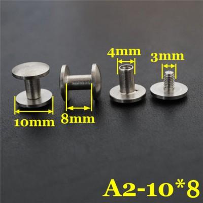 FR406 Stainless Steel Dome Head Binding Head Screw 10x4x8mm 100pcs/bag