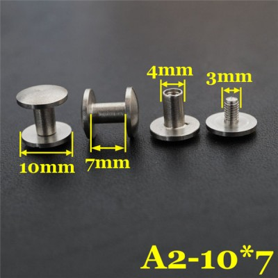 FR407 Stainless Steel Dome Head Post Screws 10x4x7mm 100pcs/bag