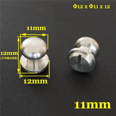 FR501 Stainless Steel Sam Browne Stud Round Head Button Screw Post 12x11x12mm 100pcs/bag