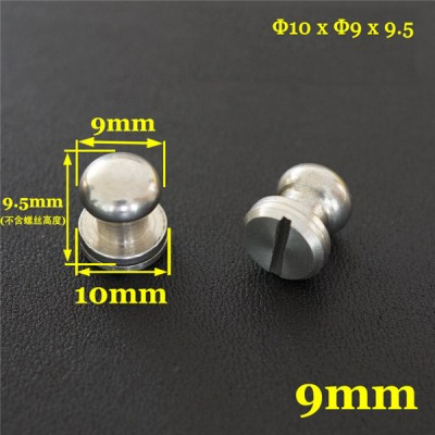FR503 Stainless Steel Sam Browne Stud Round Head Button Screw Post 10x9x9.5mm 100pcs/bag