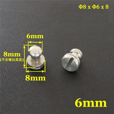 FR507 Stainless Steel Sam Browne Stud Round Head Button Screw Post 8x6x8mm 100pcs/bag