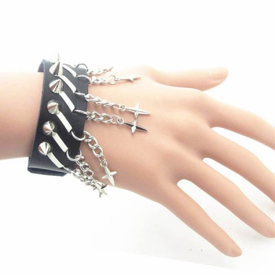 Spikes-Rivets-Punk Bracelet HJ023