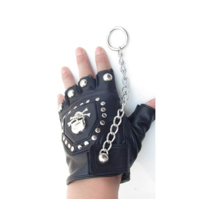 Skull-Spikes-Rivets-Punk-Gloves HJ201