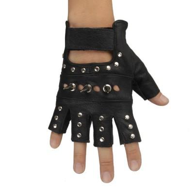 Spikes-Rivets-Punk-Gloves HJ203