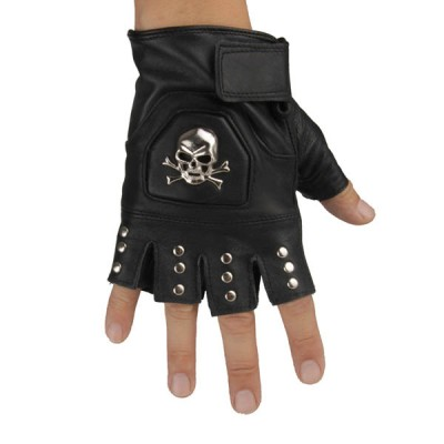 Skull-Spikes-Rivets-Punk-Gloves HJ205