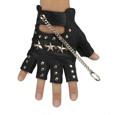 Spikes-Rivets-Punk-Gloves HJ206