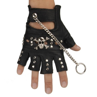 Skull-Spikes-Rivets-Punk-Gloves HJ207