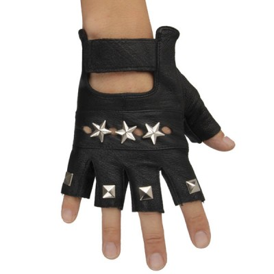 Spikes-Rivets-Punk-Gloves HJ208