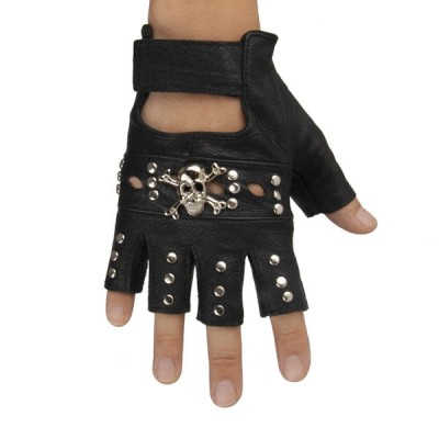 Skull-Spikes-Rivets-Punk-Gloves HJ209