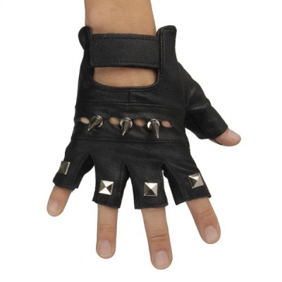 Spikes-Rivets-Punk-Gloves HJ210