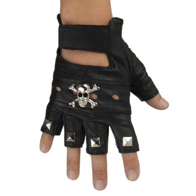 Skull-Spikes-Rivets-Punk-Gloves HJ214