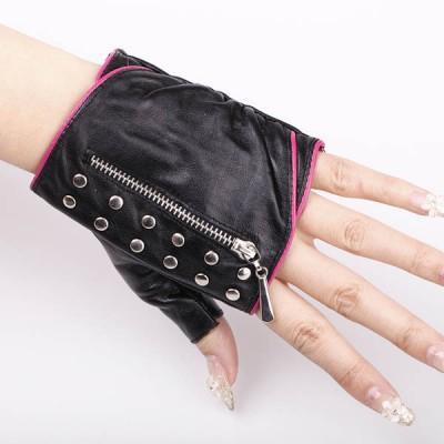 Spikes-Rivets-Punk-Gloves HJ216