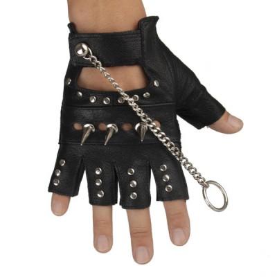 Spikes-Rivets-Punk-Gloves HJ219