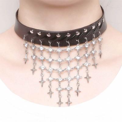 Spikes-Rivets-Punk-Necklaces HJ353